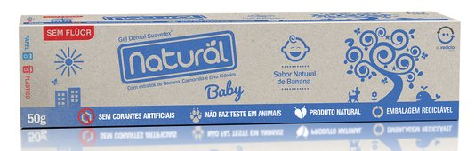 Creme Dental Natural Suavetex Baby Sabor Banana - 50g