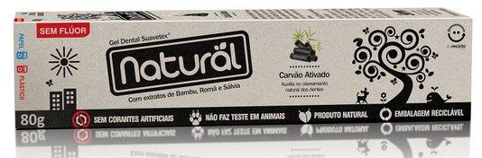 Creme Dental Suavetex Natural Carvão Ativado C/ Extratos de Bambu, Romã e Sálvia 80g - Suavetex