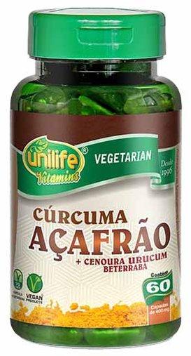 Curcuma Açafrão + Associações 60 cápsulas de 500mg Unilife