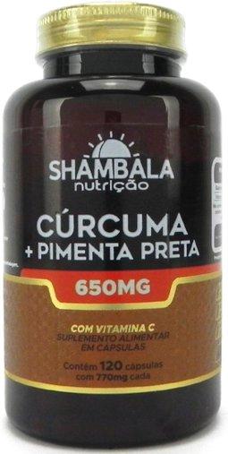 Cúrcuma com Pimenta Preta 650mg 120cps Shambala