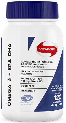 Ômega 3 - EPA DHA 120 cápsulas 1g - Vitafor