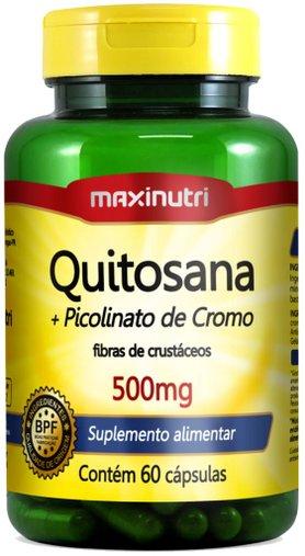 Quitosana + Picolinato de Cromo (fibra de Crustáceos) 500mg 60 cápsulas