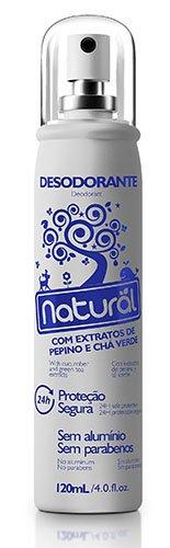 Desodorante Spray Suavetex Orgânico Natural Pepino e Chá Verde 120ml - Suavetex