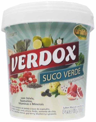 Verdox - Suco Verde- Instantâneo Sabor Abacaxi com Hortelã 220g - Unilife