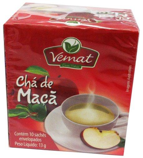 Chá de Maçã com 10 sachês Peso Líquido 13g - Vemat
