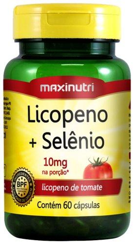 Licopeno + Selênio 10mg 60 cápsulas Maxinutri