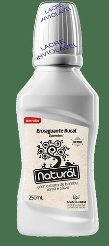 Enxaguante Bucal Suavetex Natural C/ Extrato De Bambu, Romã e Sálvia 250ml - Suavetex