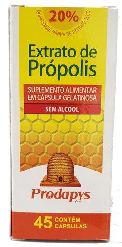 Extrato de Propolis Marrom Suplemento Alimentar 45 cápsulas Prodapys