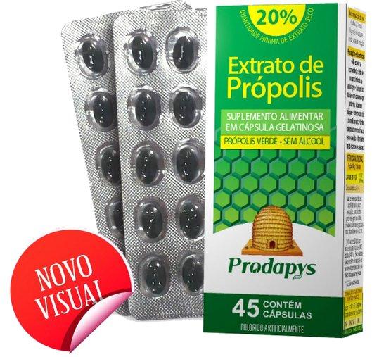 Extrato de Própolis Verde 20% sem álcool 45 cápsulas Prodays