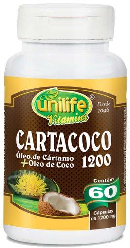 Cartacoco - Óleo de Cártamo com Óleo de Coco 60 Cápsulas 1200mg - Unilife