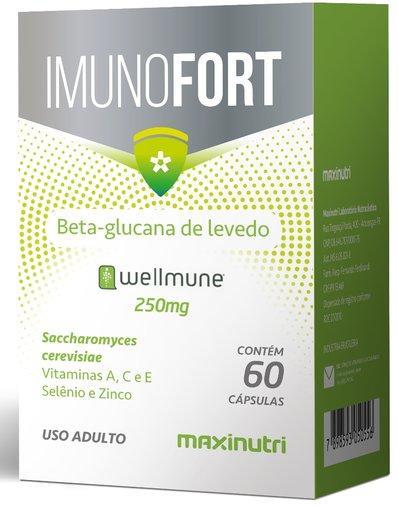 Imunofort (Wellmune + Vitaminas) 250mg 60 cápsulas  Maxinutri