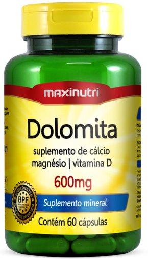 Dolomita 600mg + Vitamina D 60 cápsulas Maxinutri