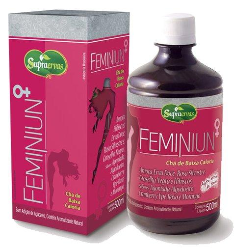 Feminiun Chá Feminino de Baixa Caloria 500ml Supra Ervas