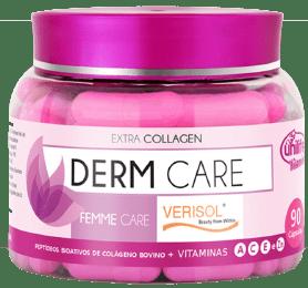 Derm Care Femme Care Verisol Peptídeos Bioativos de Colágeno + Vitaminas A C E Zn 90 cápsulas 600mg Unilife - 7898483530212