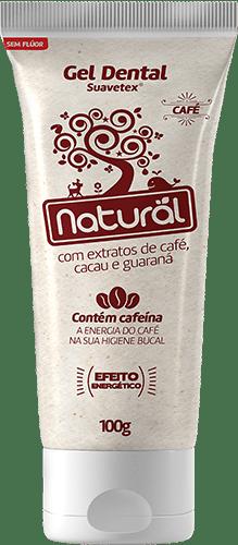 Gel Dental Suavetex Orgânico Natural C/ Extratos de Café, Cacau e Guaraná - 100g