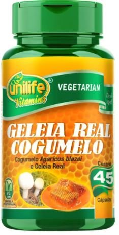 Geleia Real com Cogumelo do Sol  45 Cápsulas 780mg Unilife