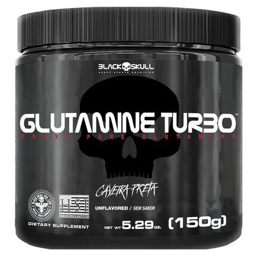 Glutamine Turbo Caveira Preta 150g BlackSkull