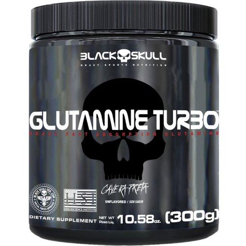 Glutamine Turbo Caveira preta 300g BlackSkull