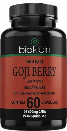 Goji Berry 60 cápsulas 600mg BioKlein MTC GOU QI ZI