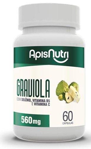 Graviola 60 Cápsulas de 560mg - Apisnutri