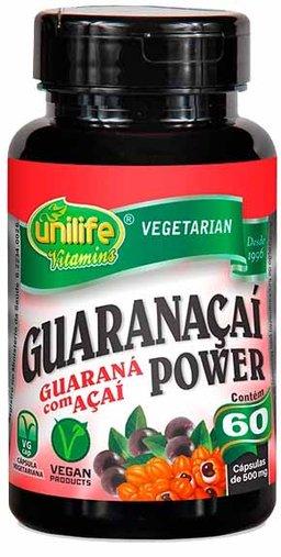 Guaraçaí Power Guaraná com Açaí 60 Cápsulas 500mg - Unilife