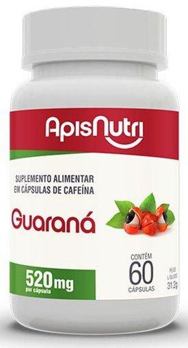 Guaraná 520mg 60 cápsulas Apisnutri