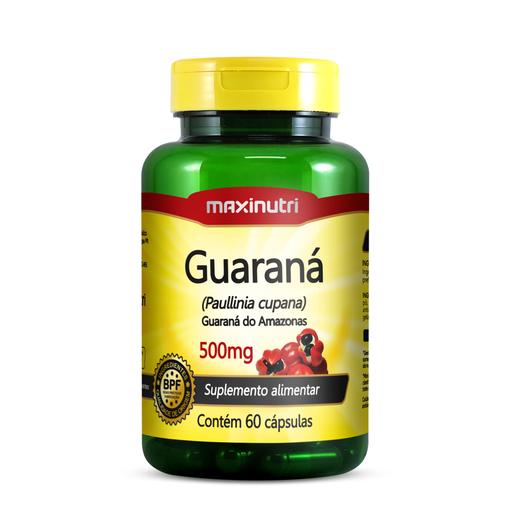 Guaraná 60 cápsulas 500mg Maxinutri