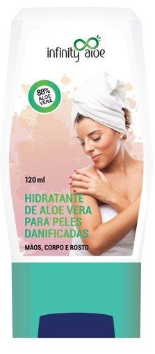 Hidratante Aloe Vera Peles Danificadas 120ml Infinity Aloe