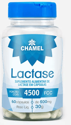 Lactase 60 caps 500mg -  4500 FCC Chamed