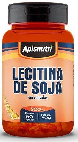 Lecitina de Soja 500mg 60 cápsulas Apsinutri