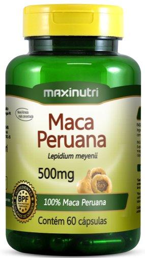 Maca Peruana 500mg 60 cápsulas Maxinutri