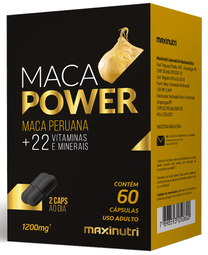 Maca Power (Maca + Vit e Minerais) 60 cápsulas Maxinutri