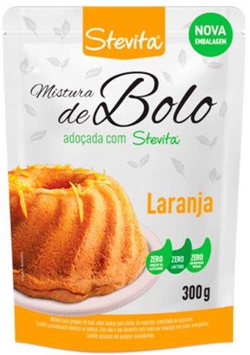 Mistura de Bolo adoçado com Stevia Sabor Laranja 300g
