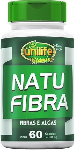 Natu Fibra Fibras e Algas 60 cápsulas 600mg - Unilife