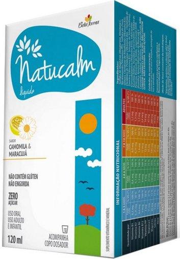 Natucalm líquido Sabor Maracujá & Camomila 120ml Bella Forma - 7896360001527