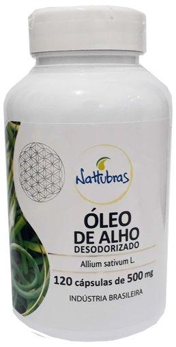 Oleo de Alho Desodorizado Nattubras 500mg 120 Cápsulas