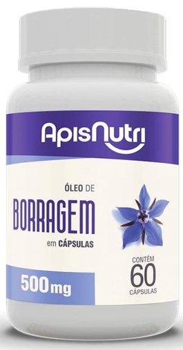 Óleo de Borragem 500mg 60 cápsulas Apsinutri