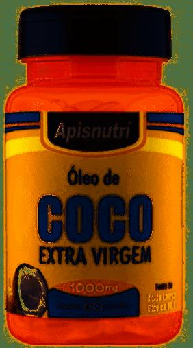 Óleo de Coco Extra Virgem 1000 mg 60 cápsulas Apisnutri