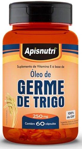 Óleo de Gérme de Trigo 250mg 60 cápsulas Apisnutri