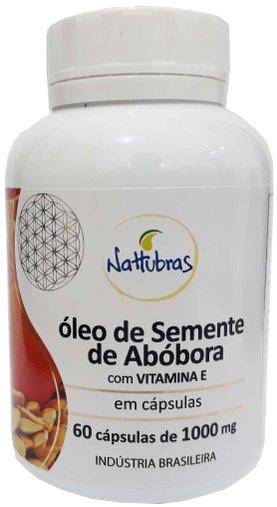 Óleo de Semente de Abóbora 60 cápsulas 1000mg Nattubras