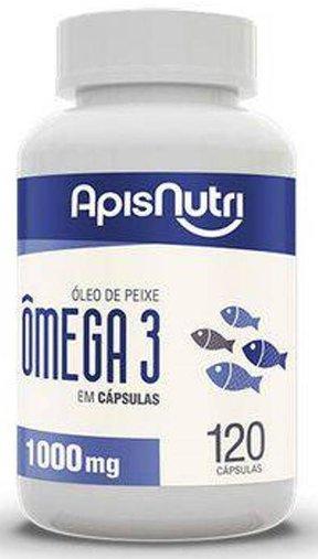 Ômega 3 Óleo de Peixe 1000mg 120 cápsulas Apisnutri