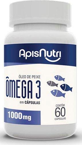Ômega 3 Óleo de Peixe 1000mg 60 cápsulas Apisnutri