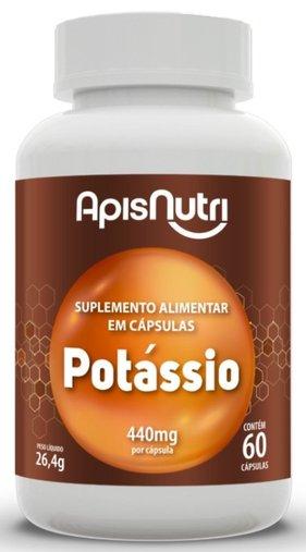 Potássio 440 mg 60 cápsulas Apisnutri