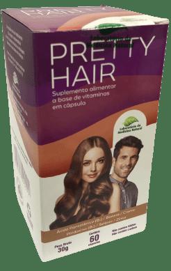 Pretty Hair Suplemento alimentar a base de vitaminas 500mg 60 cápsulas Medinal