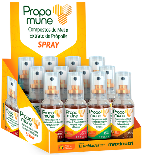 Propolis Spray Propomune Display Sabor Sortido 30ml Maxinutri