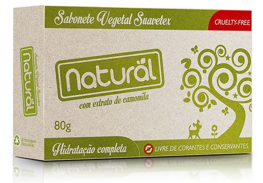 Sabonete Contente Com Extrato Orgânico de Camomila 80gr - Suavetex