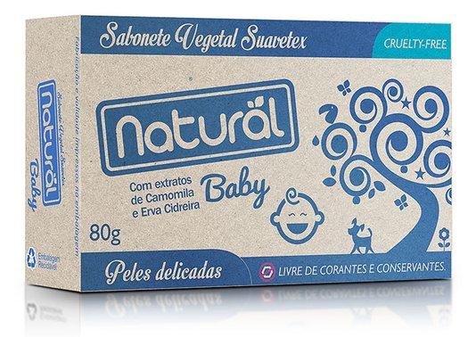 Sabonete Suavetex Natural Baby C/ Extratos De Camomila e Erva Cidreira - 80g