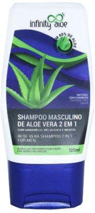 Shampoo Masculino Aloe Vera 2 em 1 120ml Infinity Aloe