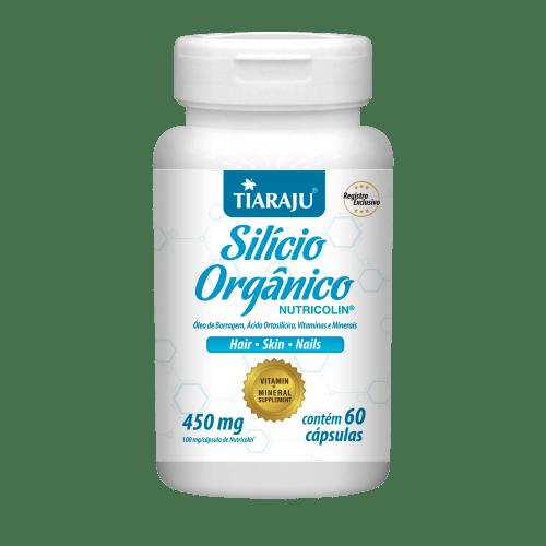 Silício Orgânico 450mg 60 cápsulas Tiaraju