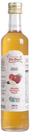 Vinagre de Maçã Orgânico 500 ml Fazenda São Roque Acidez 4,2%